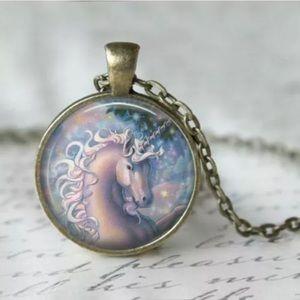Unicorn Pendant Necklace On 18 Inch Chain
